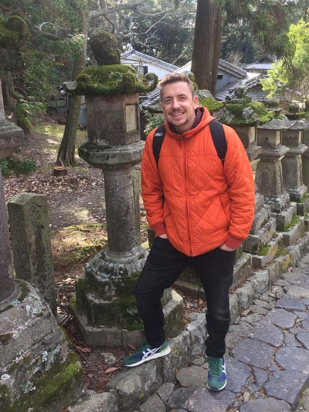 Photo of Chris Hall, Founder of Kyoto Guided Walks, in Nara, Japan